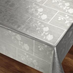 Rosenbue Sølvgrå Rektangulær - med smukke damaskmønstre af roser