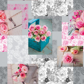 Le Rose, Rosenpalette, voksdug med skønne roser