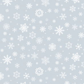 Gennemsigtig julevoksdug - Snow-White på Klar Plast