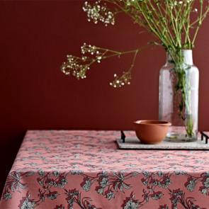 Södahl Shadow Flower Terracotta, akrylatbehandlat textilduk, halkfri