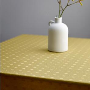 Södahl Squares Golden, damastvävd akrylatbehandlat textilduk, halkfri