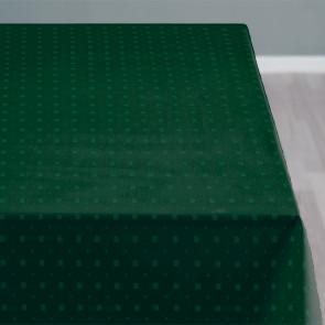 Södahl Squares Grøn, klassisk damaskvævet akryldug med antiskrid