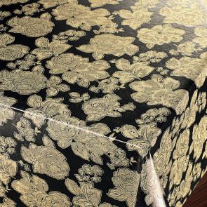 Gyldne Chrysanthemum - Flot damask præget voksdug