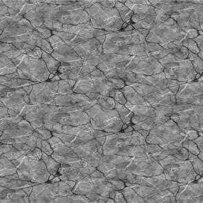 Voksdug med marmor look - Sort/grå