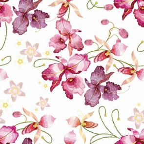 Pink Orkide - Voksdug med lyserøde og over i lilla farver