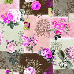 Roselyn Rosa, voksdug med flotte roser