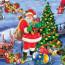 Ho Ho Ho - Julemanden på arbejde, 140 cm bred